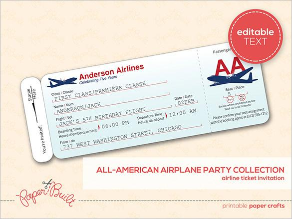 Ticket Templates – Printable Ticket Paper