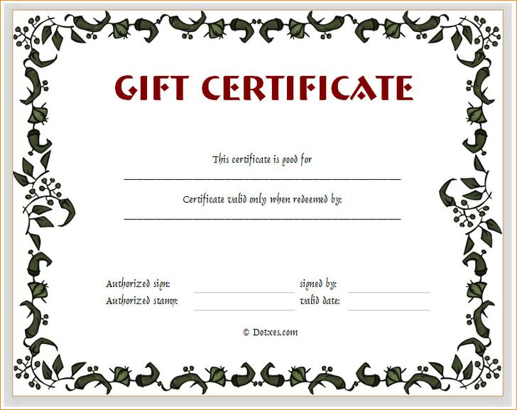 Customizable Gift Certificate Gift Ftempo – Make Your Own Gift Voucher Template