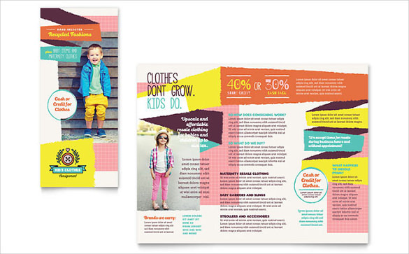 Customizable Kids Consignment Shop Brochure Word Template