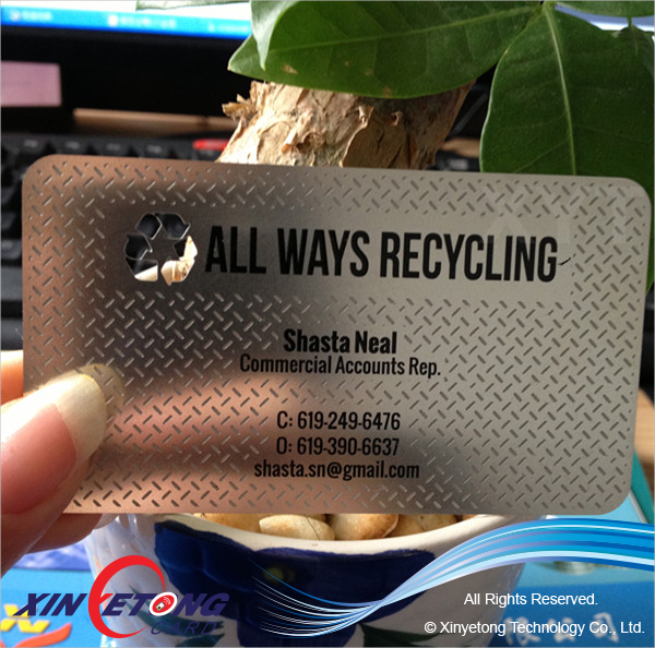 Customize Design Stainless Magnetic Business Card