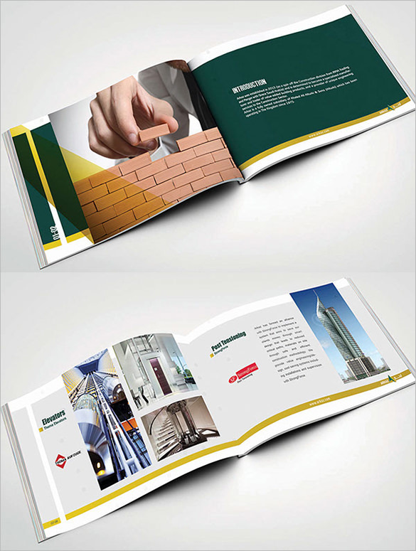 Top construction company brochure templates download for Construction brochure template