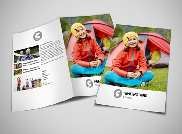 Cute Kids Summer Camp Brochure Template