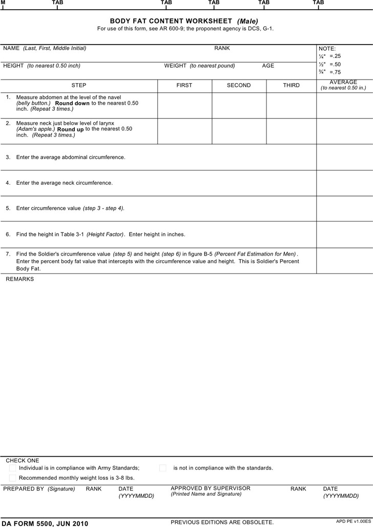 Da Form 5500 Download Free Amp Premium Templates Forms