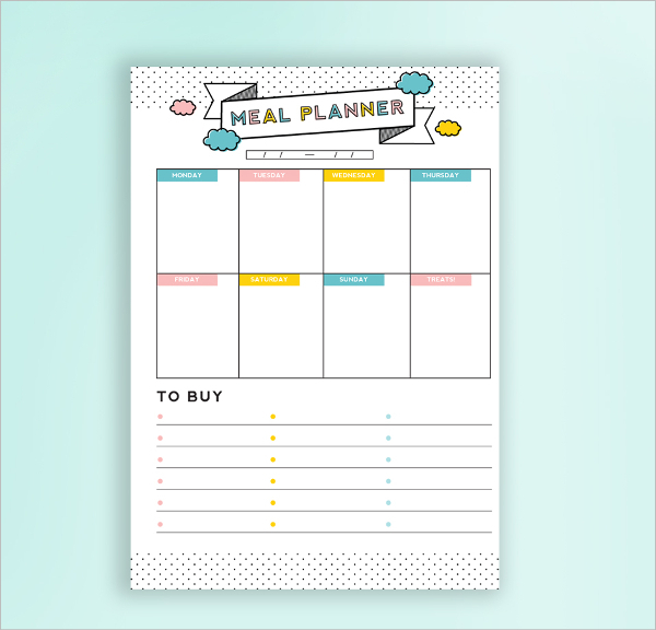 Daily Meal Budget Planner Template
