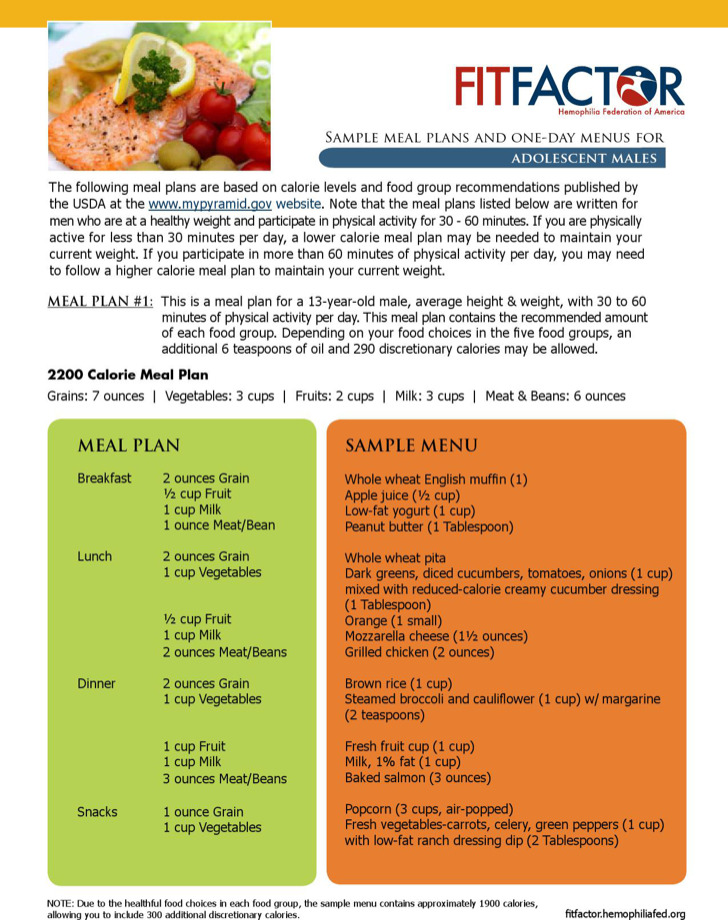 Daily Meal Plan Menu Template