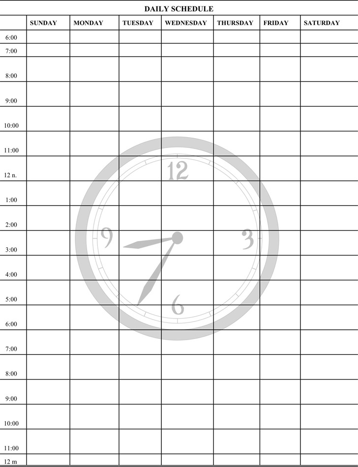 Daily Planner Template | Download Free & Premium Templates, Forms