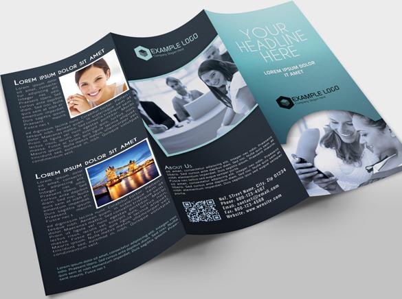 Dark Colour Tri-Fold Brochure