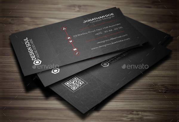 Dark Corporate Business Card
