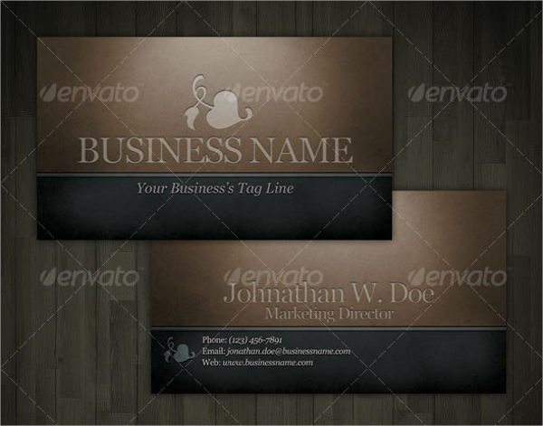 Dark Engraved Business Card Template