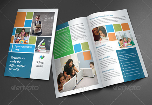 Dark School Brochure Template