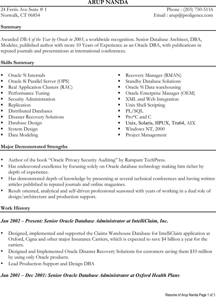 oracle production support resume] - 28 images - resume sles ...