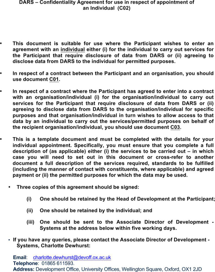 Data Confidentiality Agreement For Individual
