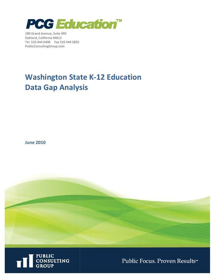 Data Gap Analysis PDF Template
