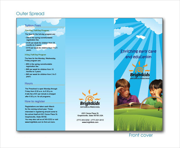 Daycare Brochure Templates  Download Free  Premium Templates