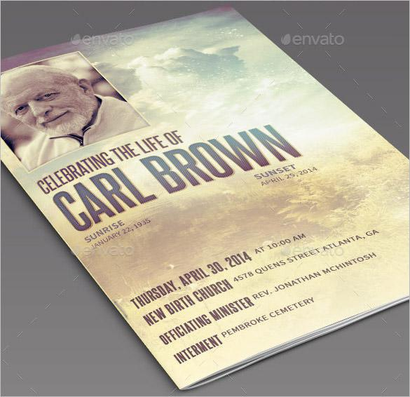 Death Obituary Template PSD Download