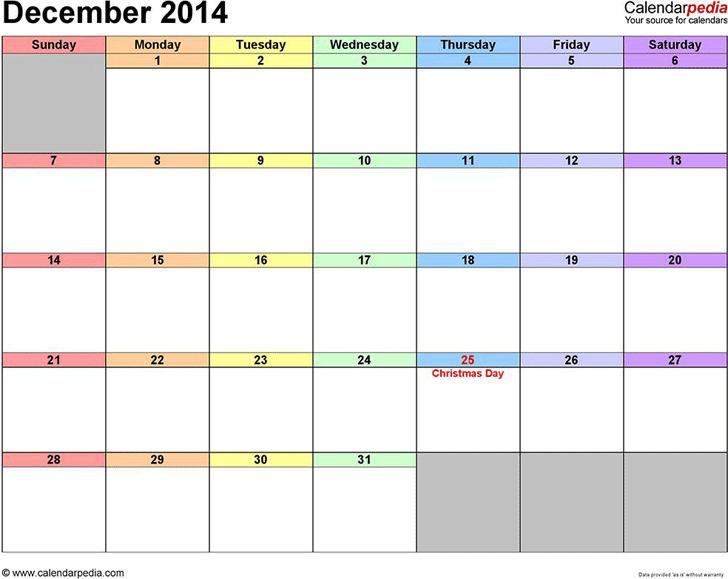 December 2014 Calendar 3