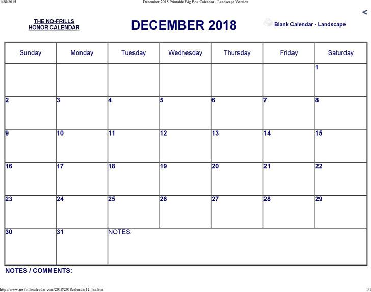 December 2018 Calendar 3