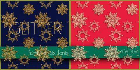 Decorative Invitation Glitter Font