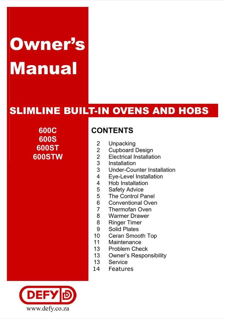 DEFY User's Manual Sample