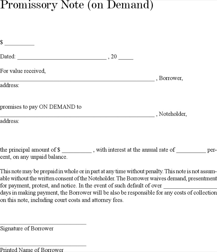38 Promissory Note Templates Free Download