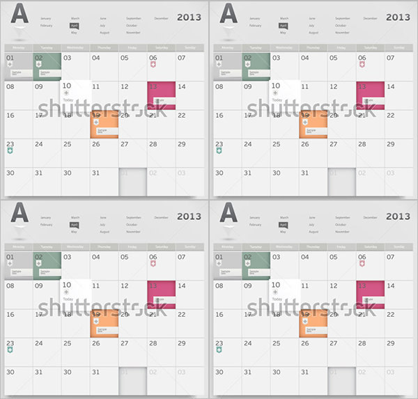 Event Calendar Templates Free Designs | Download Free & Premium
