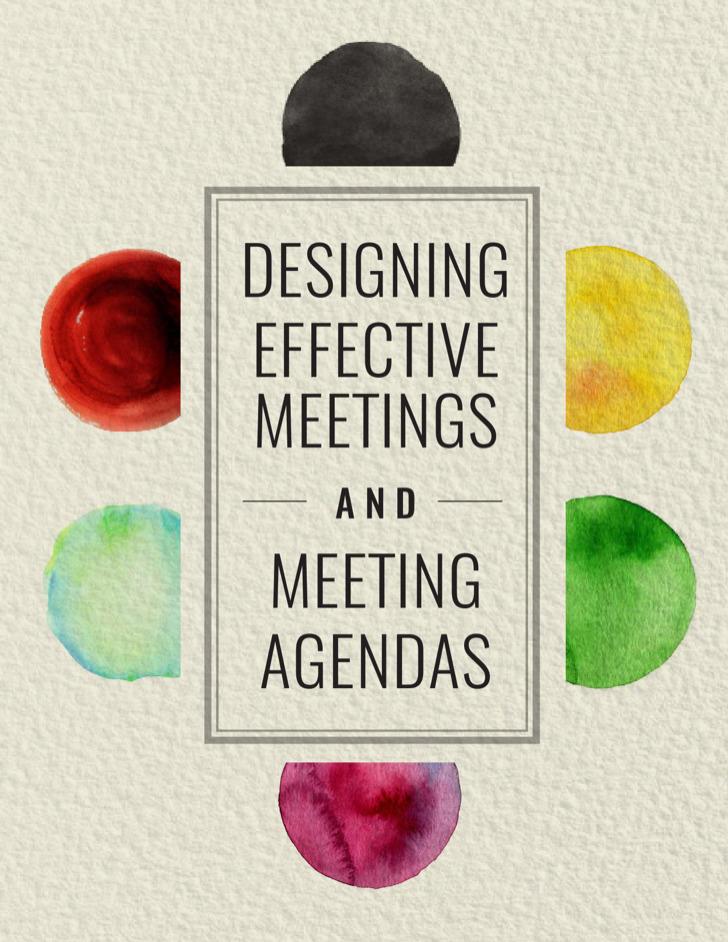 Designing Effective Meeting Agenda Sample