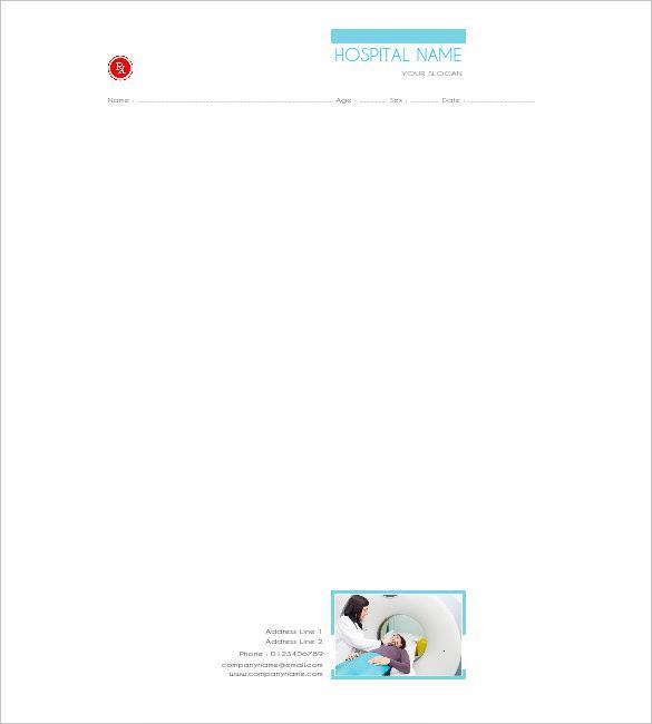 Diagnotics Doctors Prescription Pad Template Free Editable