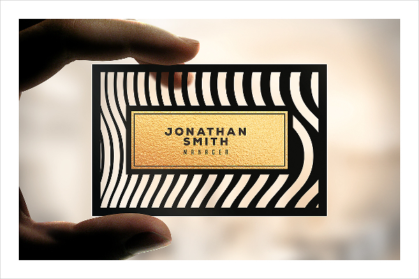 Digital Die Cut Business Card
