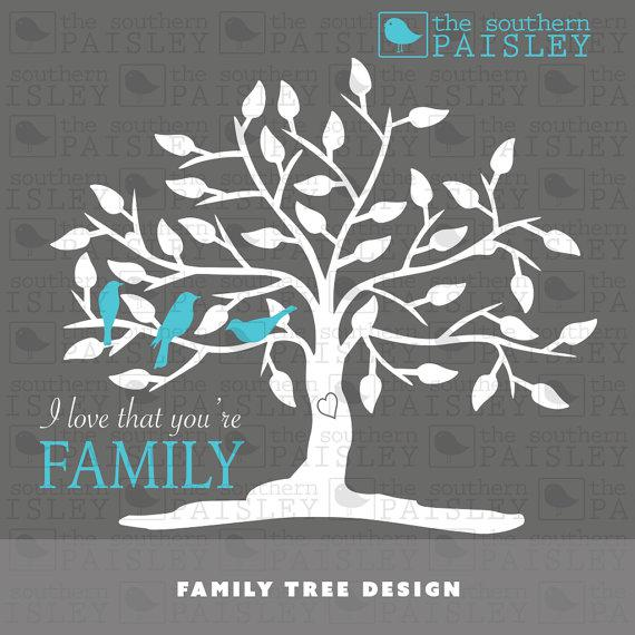 Digital File Family Tree Blank Template With Svg Format