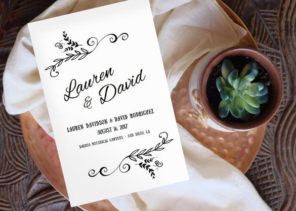 Digital Wedding Program Template For Download