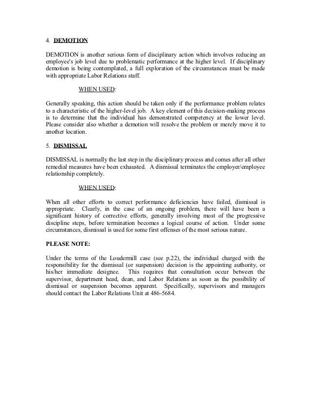 Disciplinary Decision Letter of Demotion Word Document for Free