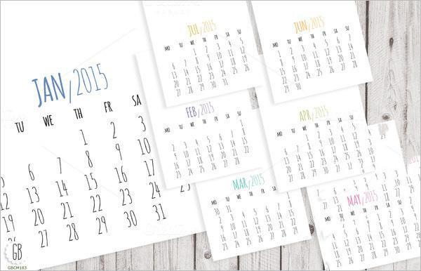 DIY Pocket 2015 Calendar Template