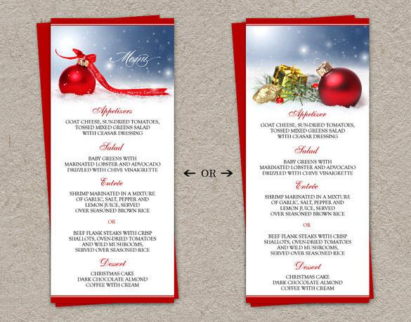 Christmas Menu Templates | Download Free & Premium Templates