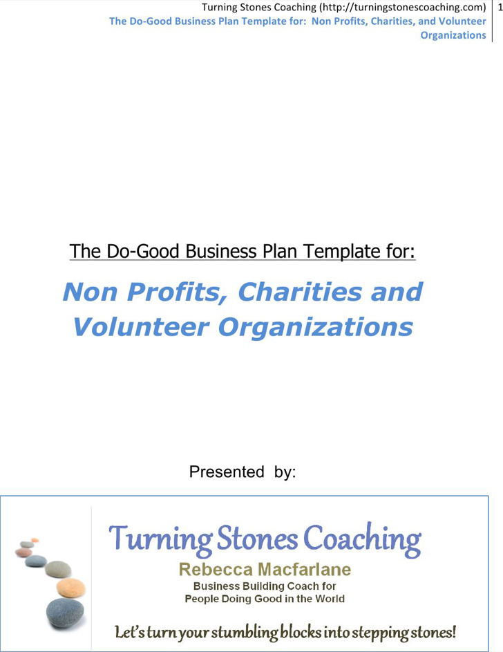 Do Good Business Plan Template For Non Profits Template Download