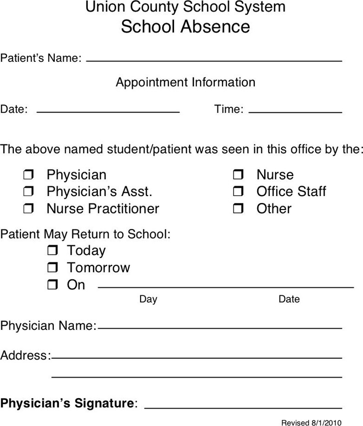Doctors Note Template | Download Free & Premium Templates, Forms ...