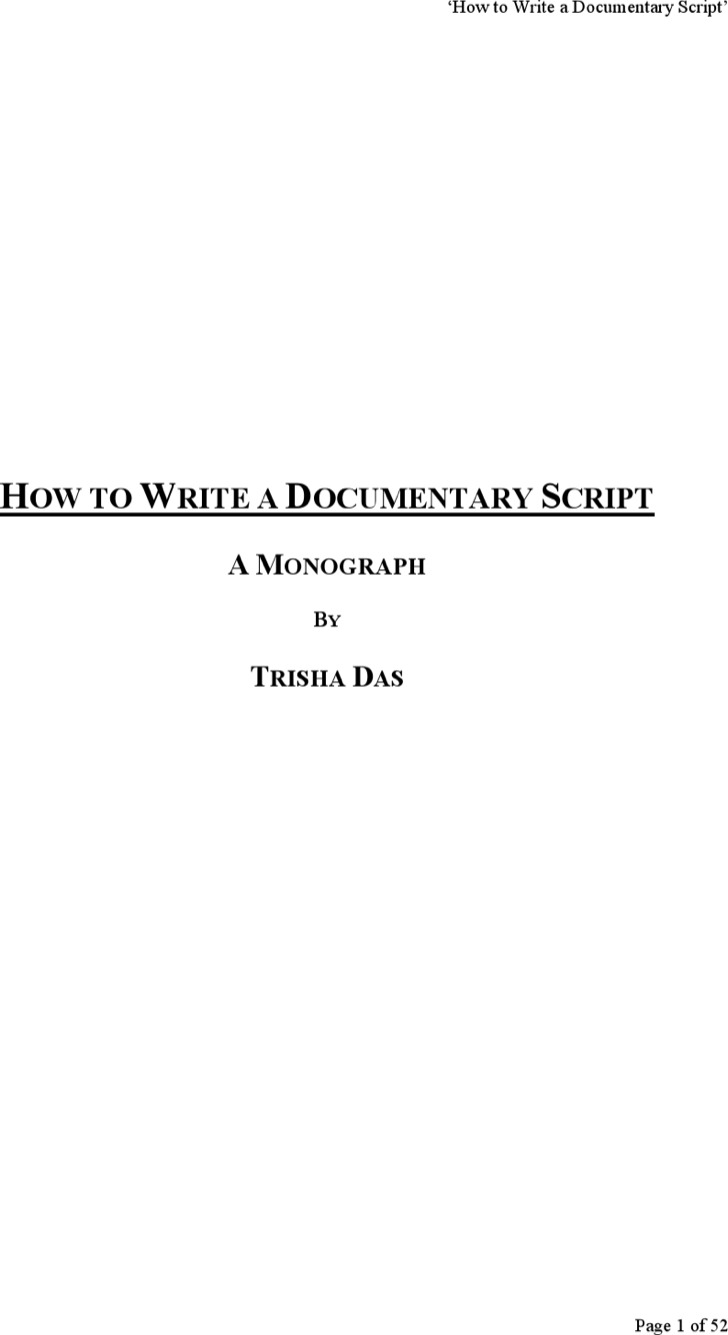 script template for word download documentary script template word