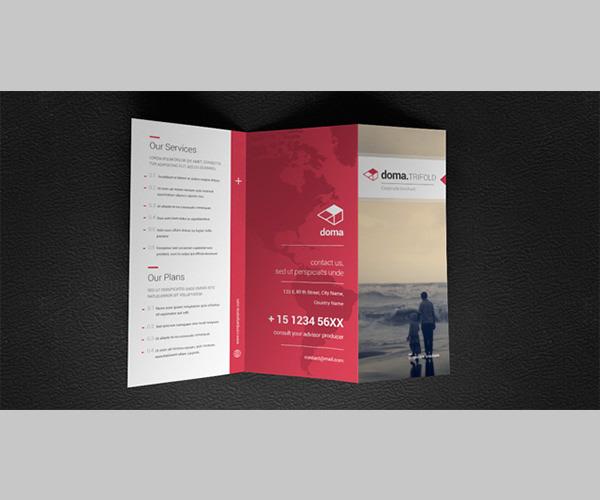 Doma Tri Fold Brochure Template