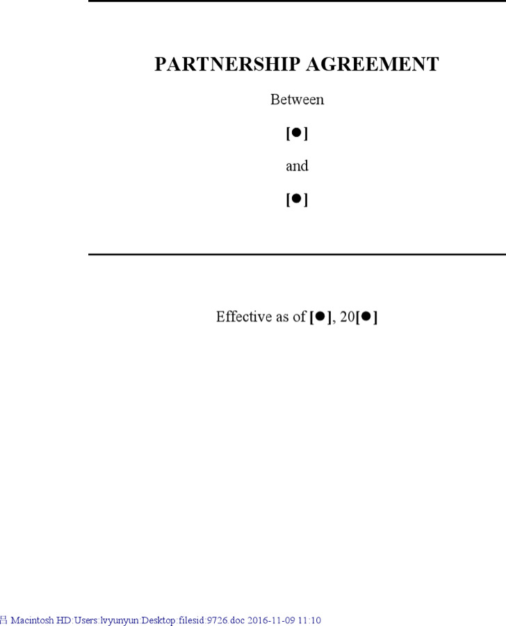 Partnership Contract Templates. Operating Agreement - 7 Free Pdf