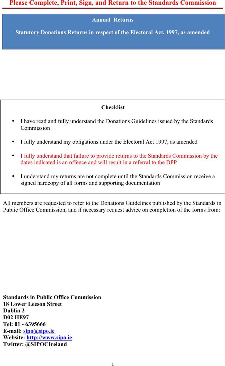 Donation Statement Certificate