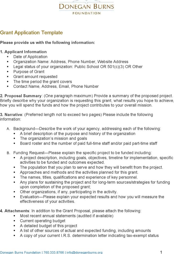 Grant Application Templates | Download Free & Premium Templates ...
