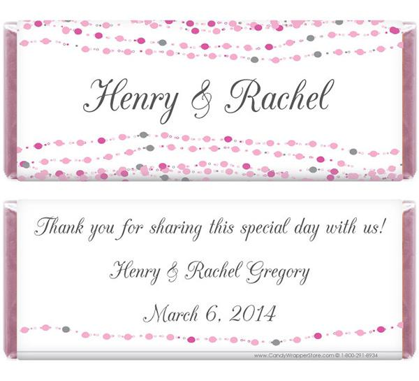 Dots Wedding Candy Bar Wrapper