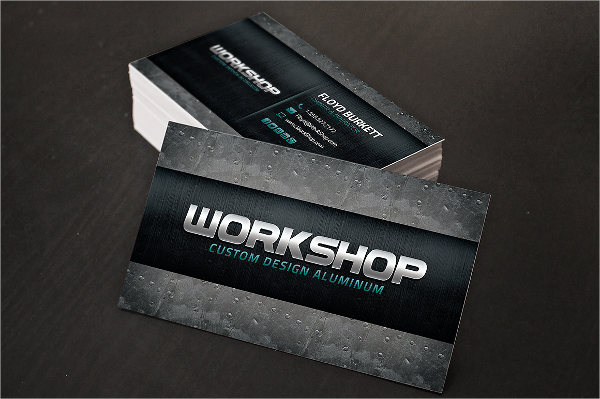 Double Sided Metal Business Card