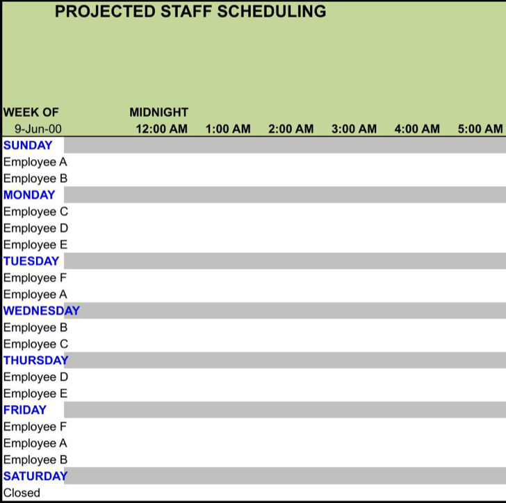 blank work schedule template download free amp premium