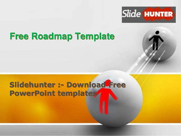 Download Free Roadmap Template PPT Format