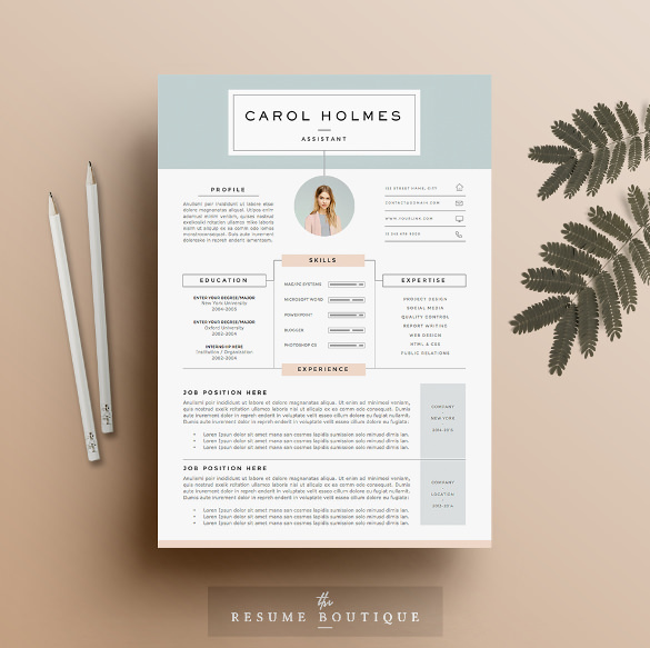 Download infographic Resume Template 4 Page Doc