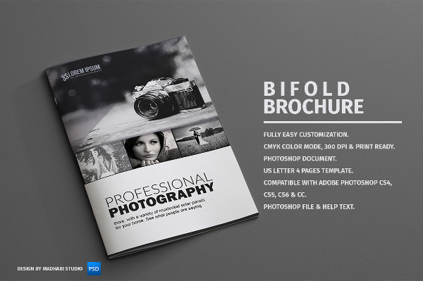 Download Photography Bi-fold Brochure Template