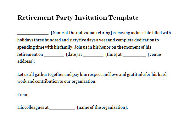 Download Retirement Party Invitation Template Free