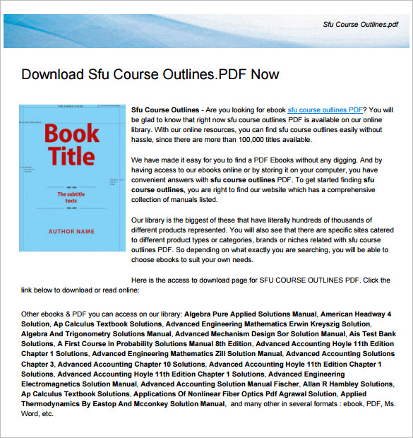 Training Course Outline Template | Download Free & Premium ...