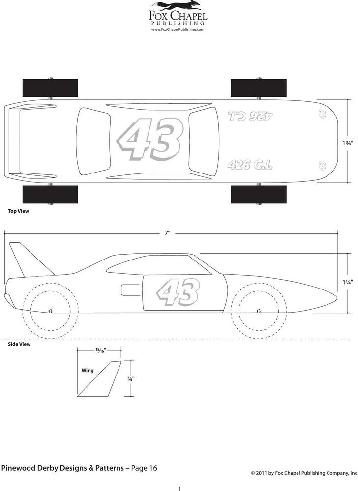 Download Speed Jet Pinewood Derby Template