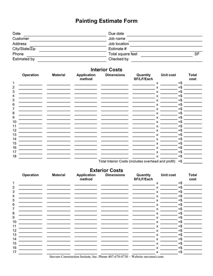 Roofing Estimate Template  Download Free  Premium Templates